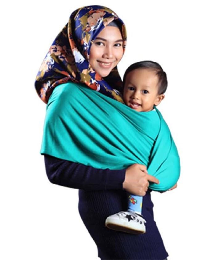 Jual Geos Gendongan Kaos Bayiku Id 2in1 Instant Baby Wrap Ukuran S