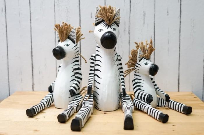 harga Pajangan kayu unik handmade flaminggo / zebra isi 3 pc Tokopedia.com