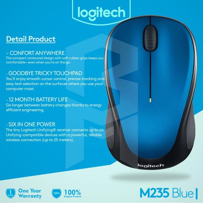 Jual Logitech Wireless Mouse M235 / M 235 - DKI Jakarta - SpecialDeal-Shop  | Tokopedia