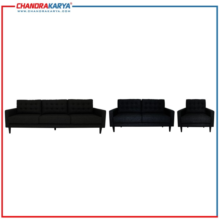 sofa minimalis quality alfred - 3-2-1 dudukan set - midnight 001
