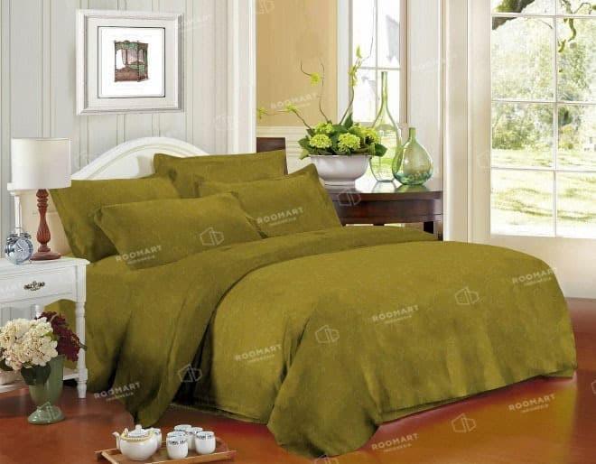Bed cover zaquard kintakun lemon grass - ukuran 180x200