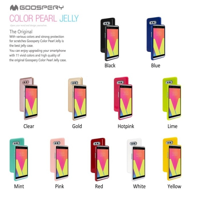 goospery oppo a71 pearl jelly case - red