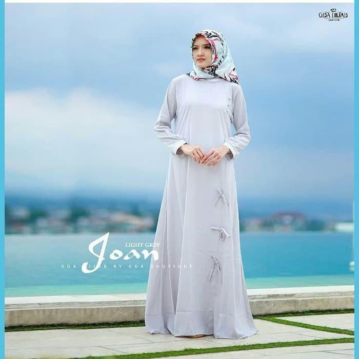 Baju muslim wanita terbaru / gamis polos murah / hijab : joan dress