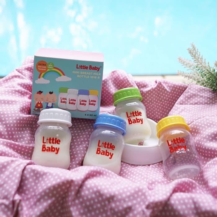 harga 4pcs botol penyimpan asi dengan sealing disc little baby bpa free Tokopedia.com