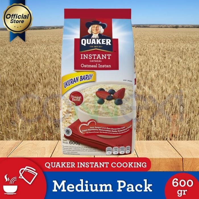 harga Quaker instant oatmeal medium pack 600g Tokopedia.com
