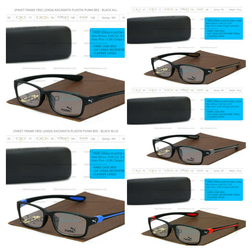 harga (paket gratis lensa transition) promo kacamata plastik puma bee sport Tokopedia.com