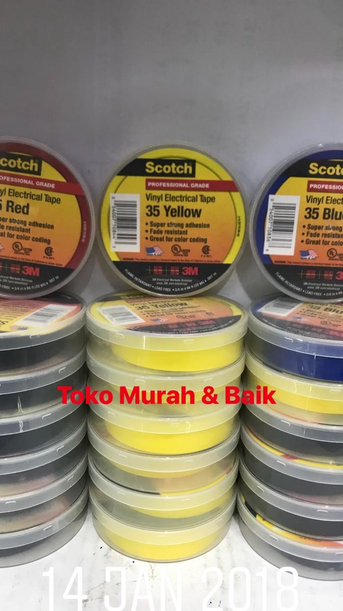harga 3m  scotch 35 vinyl electrical tape  (yellow blue red) Tokopedia.com