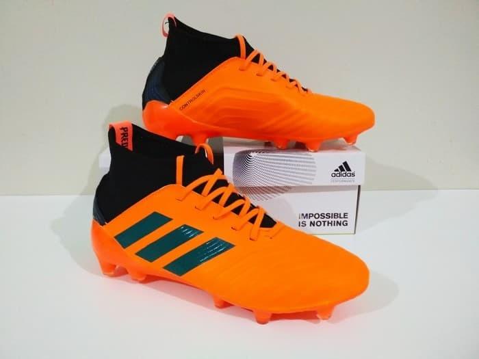 Jual SEPATU BOLA Adidas PREDATOR Boots 18 FG Grade Ori (Orange Black ... 557ba6a7b7