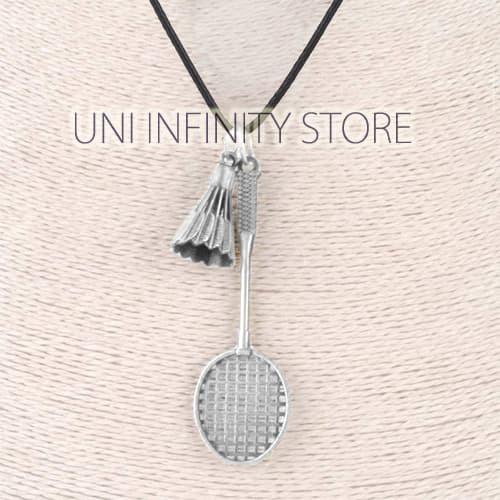 harga Jwne0285 silver kalung raket bulu tangkis pria wanita badminton racket Tokopedia.com