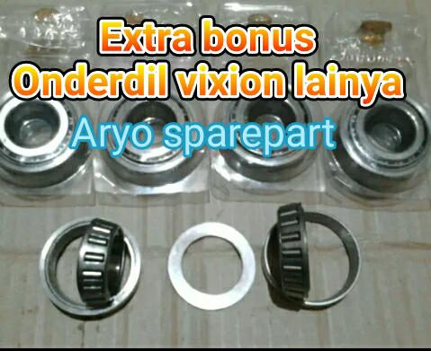 harga Kones komstir vixion bearing bambu atas bawah plus ring tinggal pasang Tokopedia.com