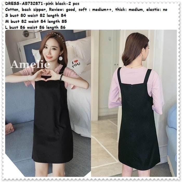 31ea256c30 Supplier Baju Murah Grosir Jakarta Overall Jumper Jumpsuit Mini Dress  Suspender Blouse Pink Korea Import Setelan Wanita