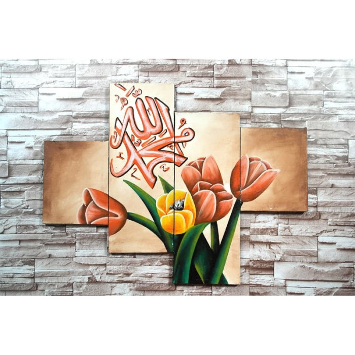 harga Lukisan kaligrafi bunga at5t Tokopedia.com
