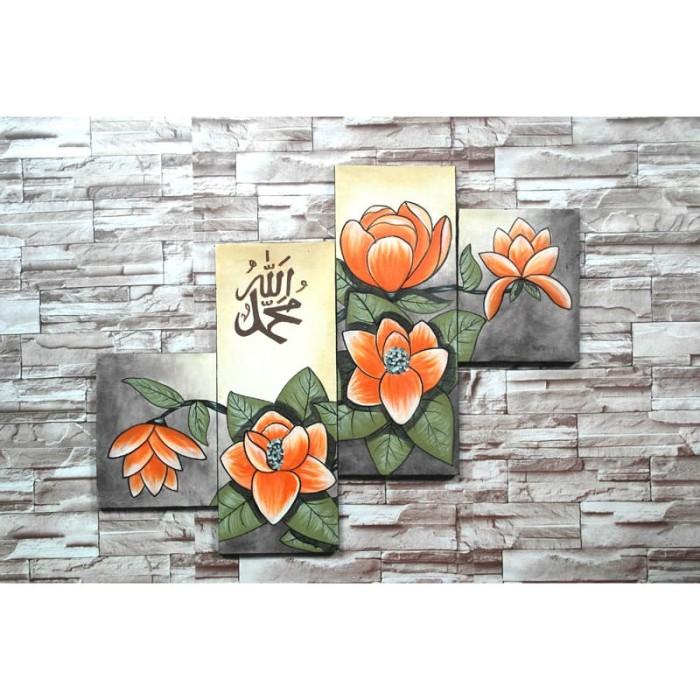 harga Lukisan kaligrafi bunga aq43 Tokopedia.com