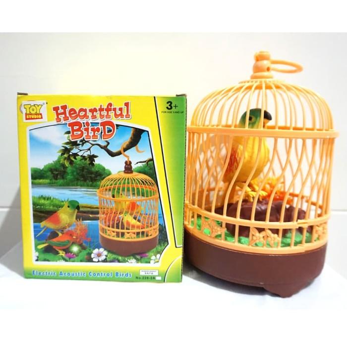 harga Mainan burung mainan dalam sangkar - heartful bird Tokopedia.com