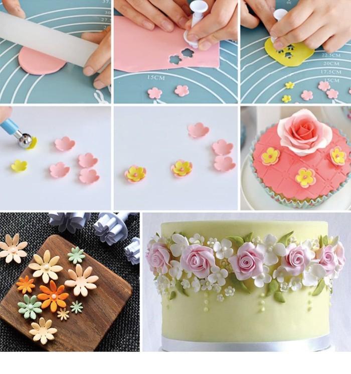 harga 8814- 4pcs cetakan flower cake craft gumpaste cookie cutter fondant Tokopedia.com