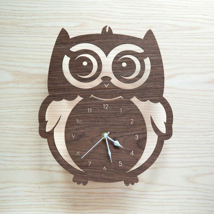 Jual Owl Wall Clock Jam Dinding Burung Hantu Kota Tangerang