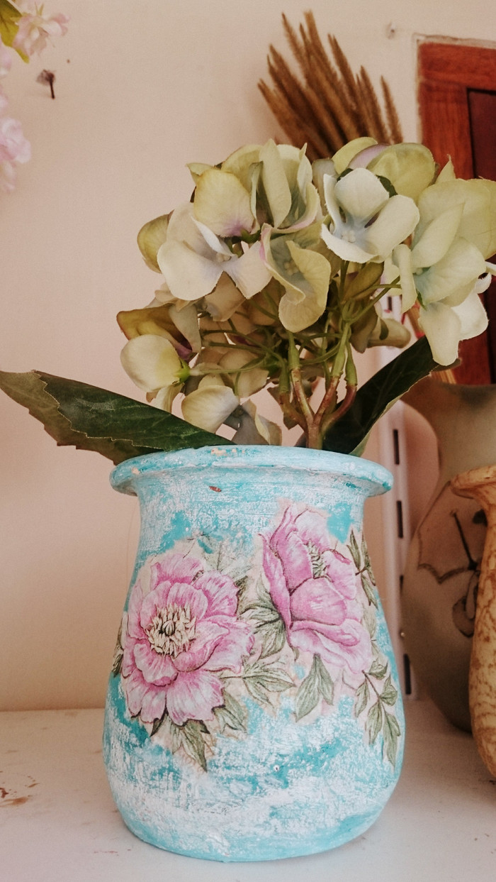 Jual Vas Bunga Gentong Dekorasi Medium Vase Clay Flower Kota Bandung Zuzusallsa