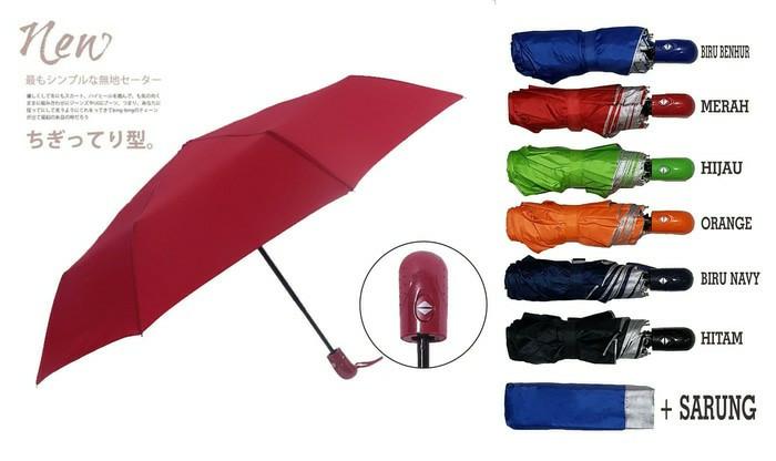 Payung lipat otomatis buka tutup dengan lapisan anti uv