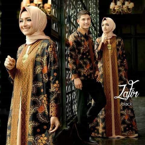 Couple batik zafir murah / baju couple / gamis .