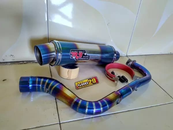 harga Knalpot racing r9 bluemoon beat mio vario scopy n max aerox dll Tokopedia.com