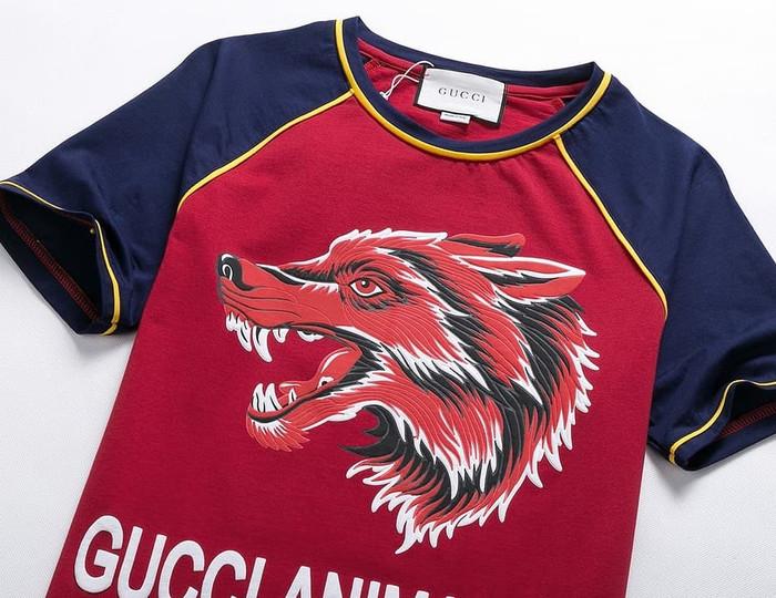 3ce30f9b1 Jual Gucci ANIMALIUM T Shirt WOLF Cotton PERFECT REAL 1:1 BEST ...
