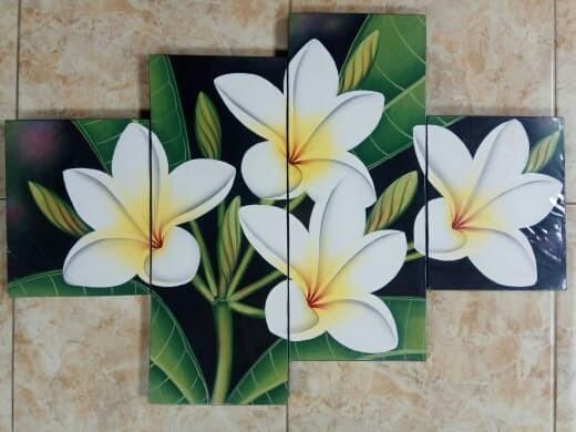 harga Lukisan panel bunga kamboja putih Tokopedia.com