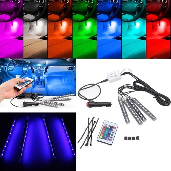 harga Lampu led kolong dashboard mobil unik dengan remote ganti warna Tokopedia.com