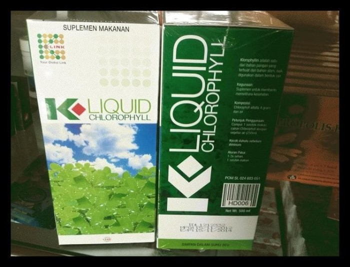 Info K Liquid Chlorophyll Travelbon.com