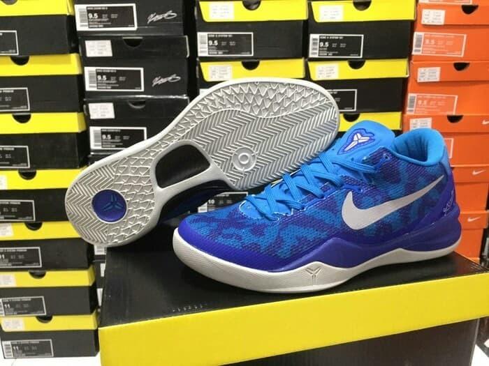 newest af74f f55b2 sepatu basket nike kobe 8 blue coral