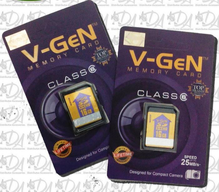 harga Memori kamera memory card sdhc v-gen 16gb class 6 ori original vgen Tokopedia.com