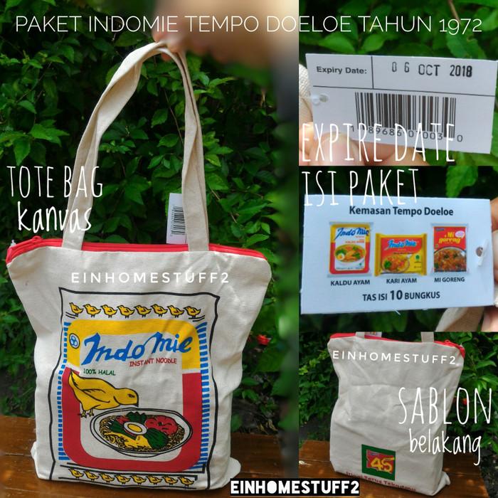 harga Indomie jadul tempo doloe vintage isi 10 & tote bag tahun 1972/ 1982 Tokopedia.com