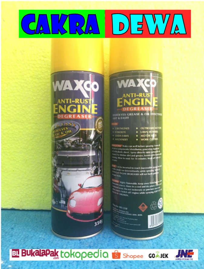 harga Waxco anti rust engine pembersih kerak bandel pada mesin mobil 350 ml Tokopedia.com