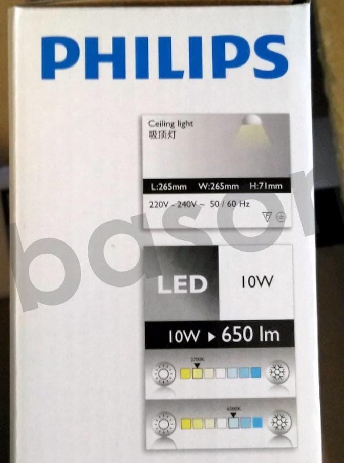 PHILIPS 33369 6500K LED CEILING 10W | Lampu Bundar Include LED
