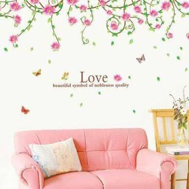 wall sticker/wall stiker trans 60x90-AY9150a-vines flower