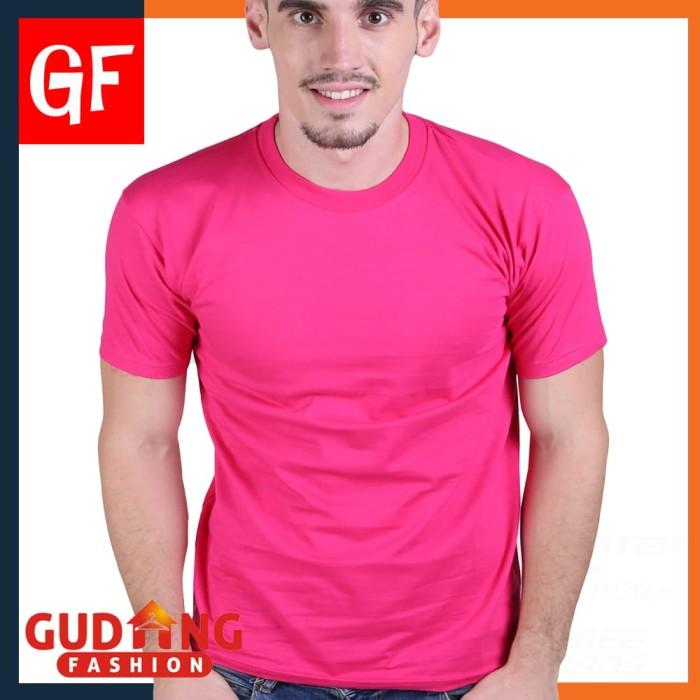 Kaos o'neck polos lengan pendek pls 29 - merah muda l