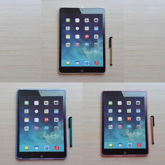 Jual Transparan Silikon Case + Stylus Apple Ipad Air 1