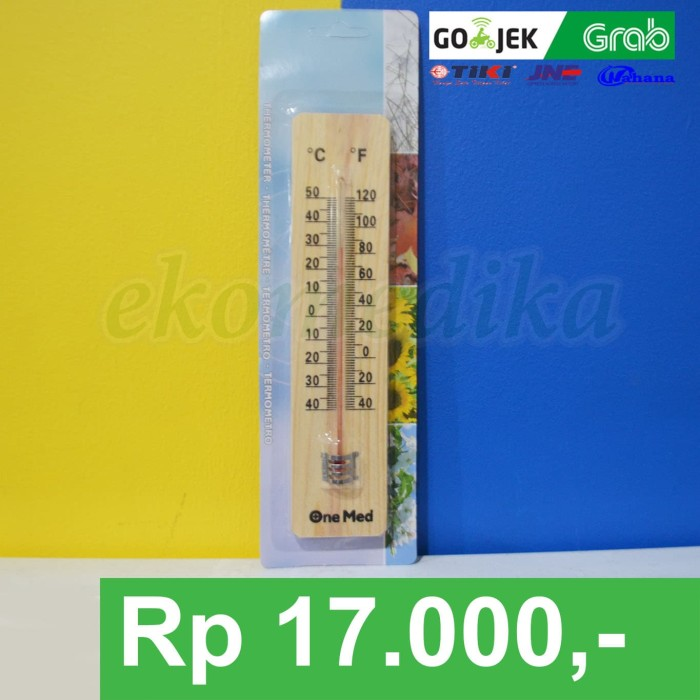 Onemed Thermometer Ruang Kayu