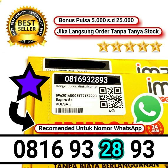 harga Indosat 10 digit nomor cantik im3 4g nomer murah non paket data kuota Tokopedia.com