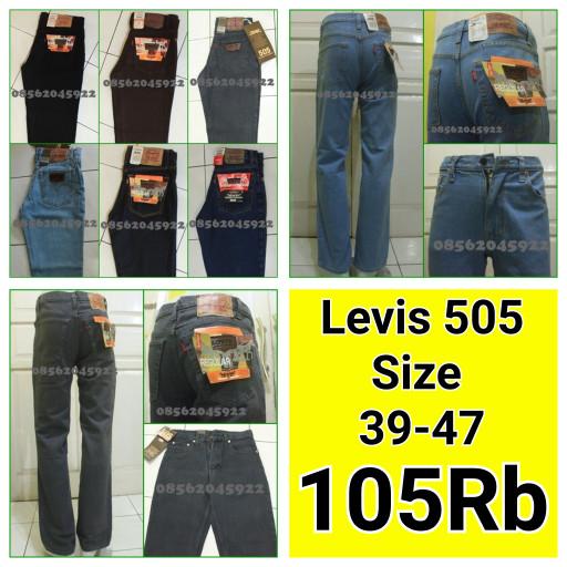 Celana jeans Levis 505 Standar (Reguler) Big Size Ukuran 39-44