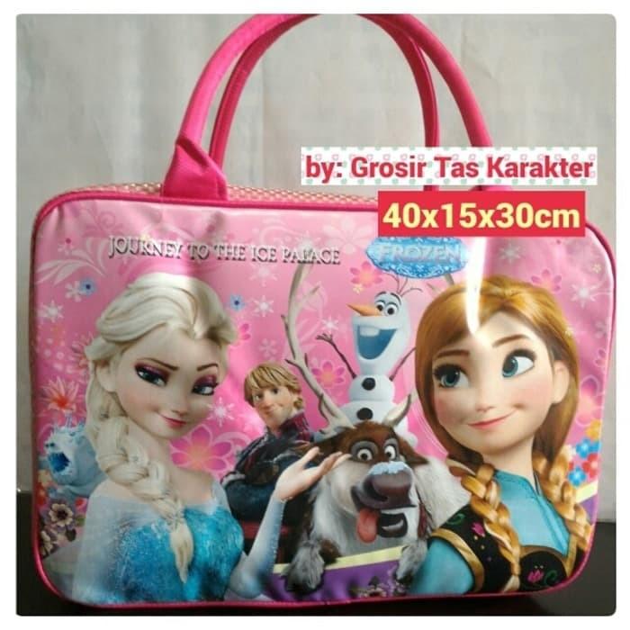 Tas Anak Cewek Karakter FROZEN 40cm Tas Tenteng Koper Travel Bag