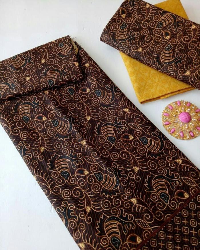 Kain Batik printing sogan cappucinno 3 Bahan Katun Prima Halus