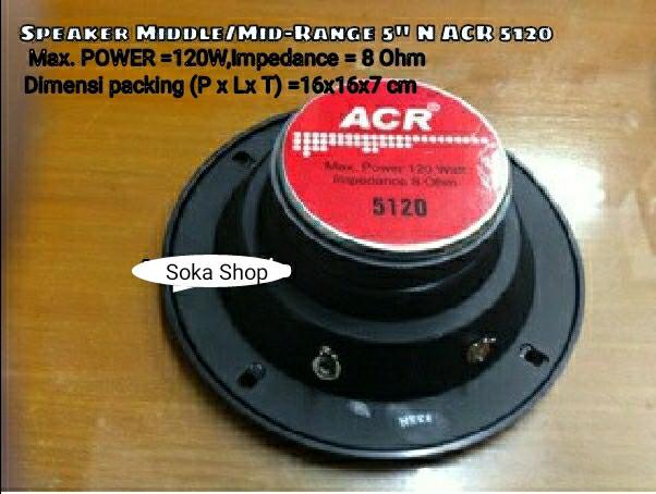 harga Speaker mid-range acr 5inch 5120 120w Tokopedia.com