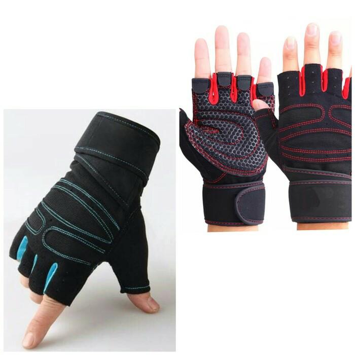 harga Sarung tangan fitness - gym gloves - lifting glove pria & wanita Tokopedia.com