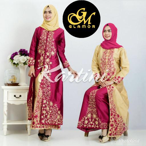 Jual Kebaya Modern Setelan Abaya Set Thapki Merah Xl Syahabi Tokopedia