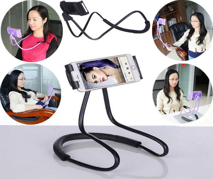New lazy neck phone stand holder / mount necklace / holder leher HP