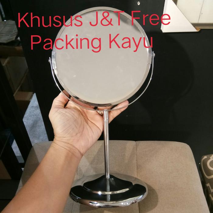 harga Kaca rias meja kaca meja cermin meja standing double mirror pembesar Tokopedia.com