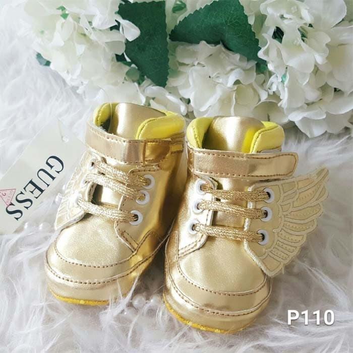 harga Sepatu bayi prewalker keren guess wings gold Tokopedia.com