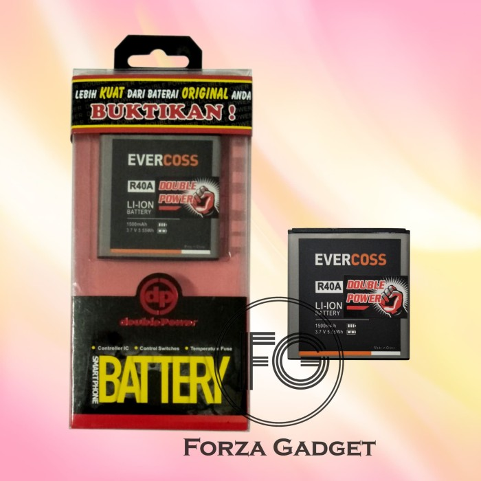 harga Battery double power evercoss winner t ultra / r40a 1500 mah Tokopedia.com