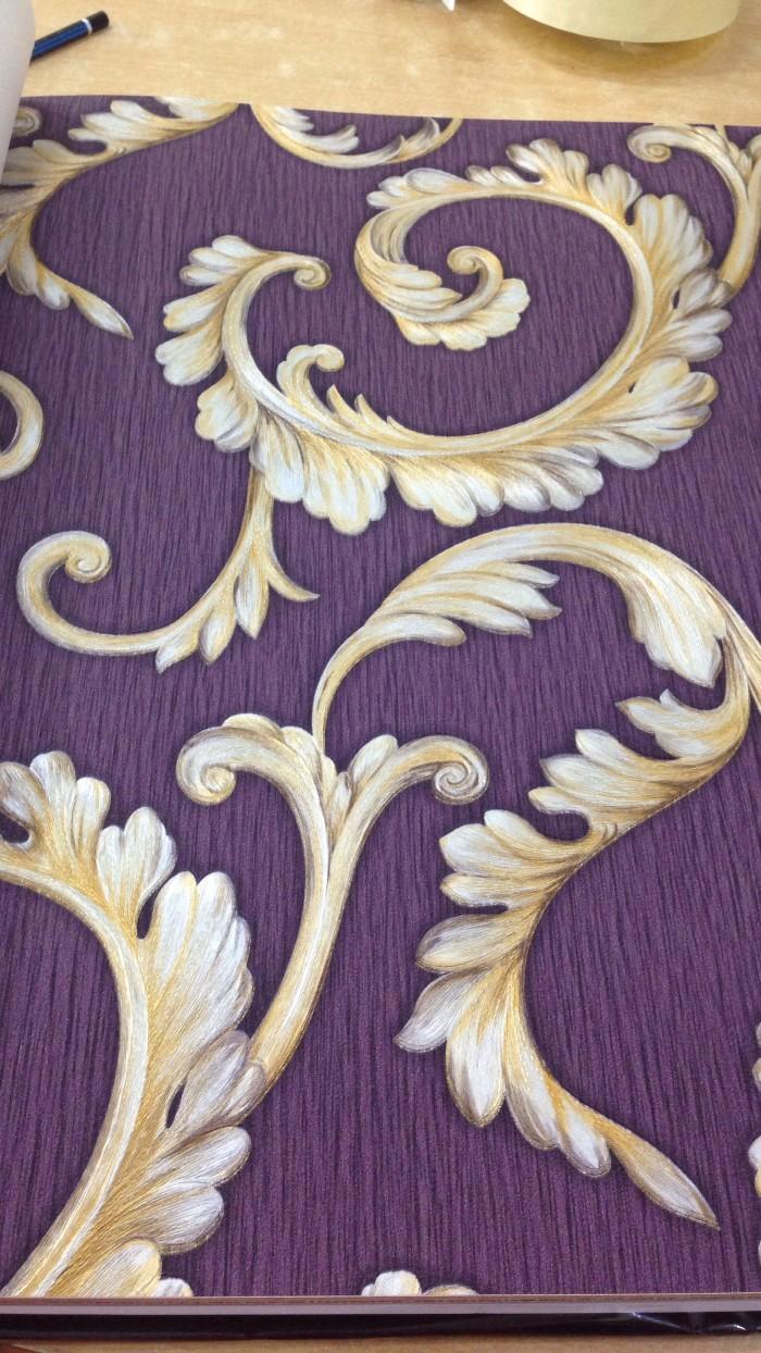 Jual Wallpaper Dinding Klasik Ukir Timbul Warna Ungu Kota Bekasi Wallpaper Pusat