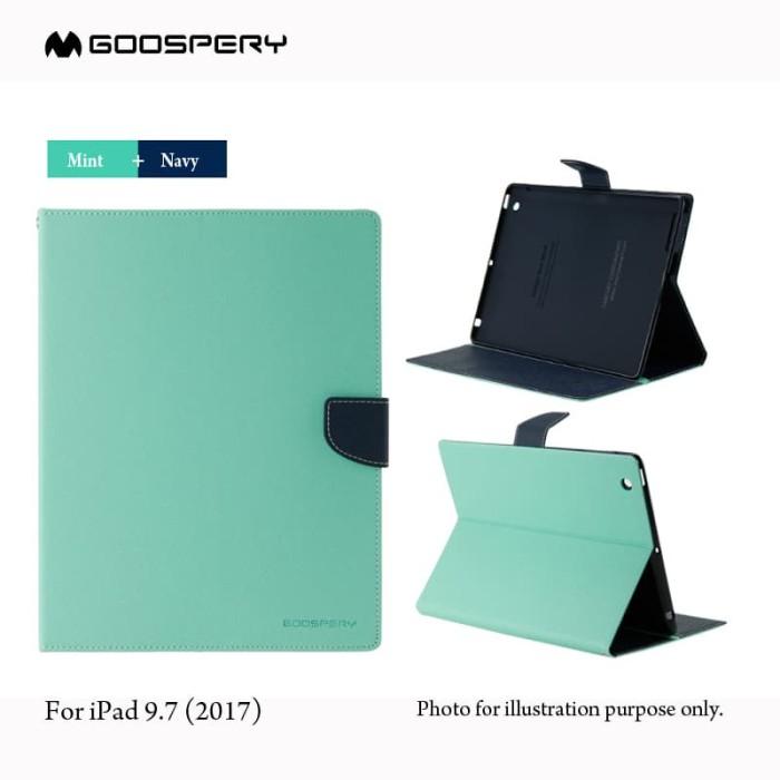 Goospery ipad 9.7 2017 fancy diary case - mint-navy